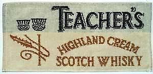 Teachers Whiskey Cotton Bar Towel    (pp)