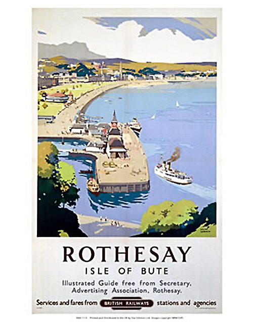 Rothesay (Isle of Bute) (old rail ad.) fridge magnet   (se)
