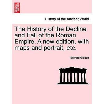減少とローマ帝国の落下の歴史。マップと肖像・ エドワードのテナガザルなどの新しい版
