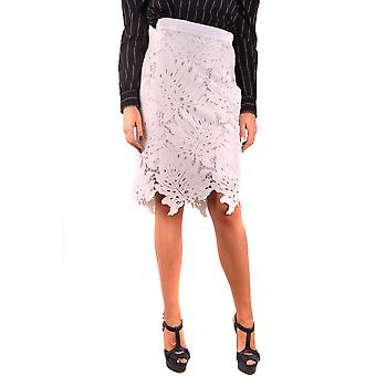 Msgm White Polyester Skirt