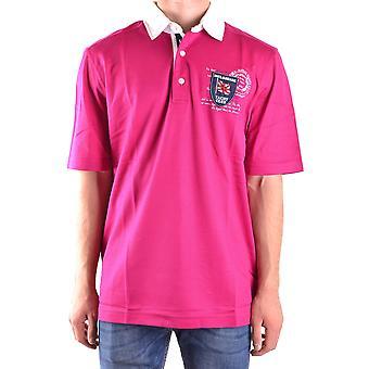 Paul & Shark Fuchsia Cotton Polo Shirt