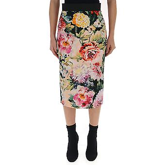 Dolce E Gabbana Multicolor Silk Skirt
