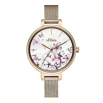 s.Oliver Damen Uhr Armbanduhr Edelstahl SO-3784-MQ