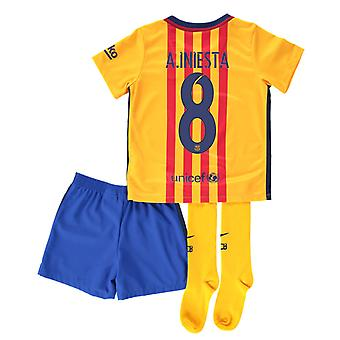 2015-16 Barcelona Away Mini Kit (A. Iniesta 8)