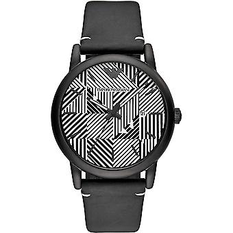Emporio Armani Mens Gents Black White Face Wrist Watch AR11136
