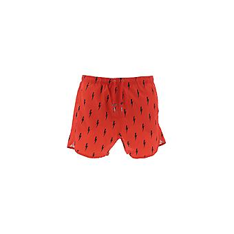 Neil Barrett Red Polyester Trunks