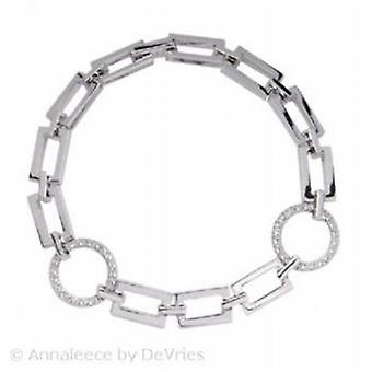 Annaleece Rectangle & Round Link Bracelet With Crystallized™ Swarovski Elements