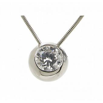 Cavendish French Sterling Silver and CZ Bowl Pendant without Chain