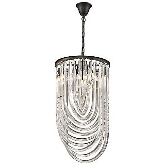 Spring Lighting - Manchester Black Chrome Clear Crystal Round Pendant  DIFM038DT3TUBU