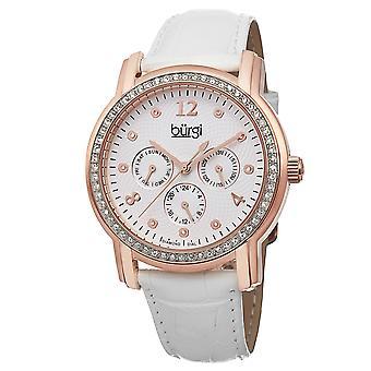 Burgi Women's Analog Display Swiss Quartz Rose Gold Watch BUR083RGW