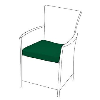 Green Seat Cushion for Rattan Chair, Pack of 2