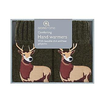 Click & Heat Knitted Cover Gel Hand Warmers: Stag (Pair)