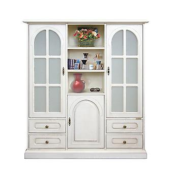 Classic combined Showcase 3 Doors 4 drawers