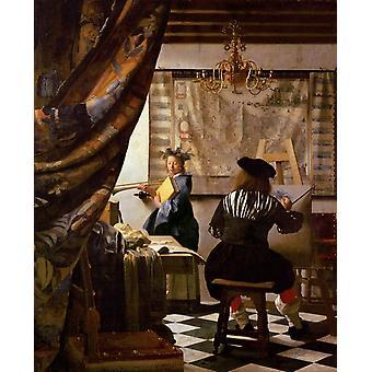 The Schilderconst,Johannes Vermeer,50x40cm