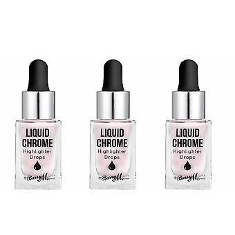 Barry M 3 X Barry M Liquid Chrome Highlight Drops - Perle précieuse