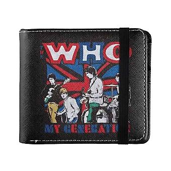 The Who Wallet My Generation Union Jack Band Logo new Official Bifold
