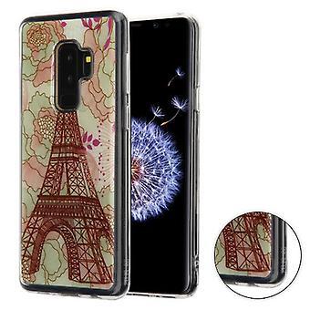 MYBAT Eiffel Tower (Transparent Clear) Krystal Gel Series Candy Skin Cover for Galaxy S9 Plus