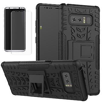 Morceau de cas 2 hybride noir SWL pour Samsung Galaxy touch 8 N950 N950F + glissière de réservoir