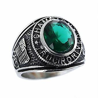 Ring Stainless Steel Us Champion chauffeur de camion Vert