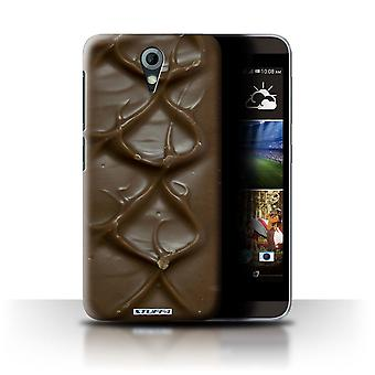 STUFF4 Custodia/Cover per HTC Desire 820 Mini/Bar/Ripple/cioccolato