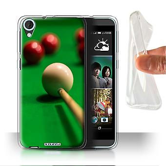 STUFF4 Gel/TPU Case/Cover voor HTC Desire 820s Dual/rode bal/Cue/Snooker