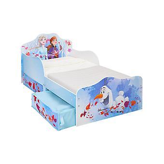 Disney Frozen 2 Toddler Bed with Storage Plus Foam Mattress