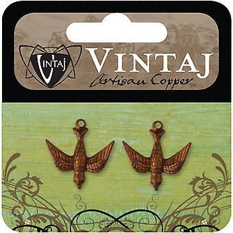 Vintaj Metal Accent 2 Pkg Watchful Bird 17X16.5Mm Cdp0001r
