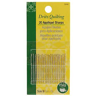 Dritz Quilting Applique Sharps Needles Size 9 20 Pkg 3048