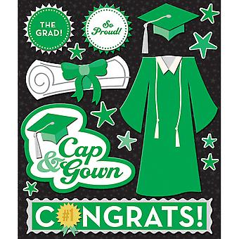 Life's Little Occasions Sticker Medley Green Cap & Gown K623330