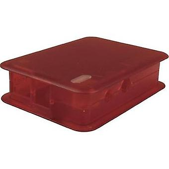 Raspberry Pi® enclosure Red (transparent) TEK-BERRY.25 Raspberry Pi®