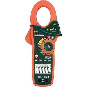 Clamp meter, Handheld multimeter digital Extech EX845 Calibrated to: Manufacturer's standards (no certificate) IR thermo