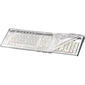 Keyboard dust covers Hama TASTATUR-STAUBSCHUTZHAUBE TRANSPARENT