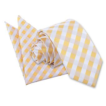 Sunflower Gold Gingham Check Tie 2 pc. Set