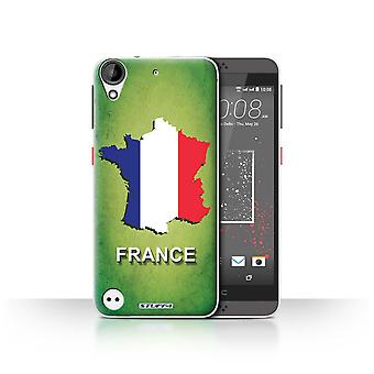 STUFF4 Case/Cover for HTC Desire 630/France/French/Flag Nations