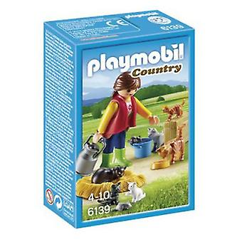 Playmobil 6139 Woman with Cat Family
