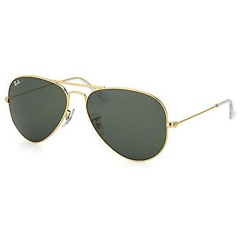 Ray Ban AVIATOR Sunglasses Gold Lens Color Green