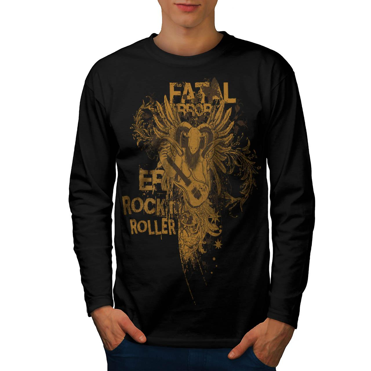 Goat Fatal Error Beat Music Ram Men Black Long Sleeve T-shirt | Wellcoda