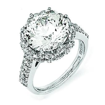 Sterling sølv Fancy CZ Ring - Ring størrelse: 6 til 8