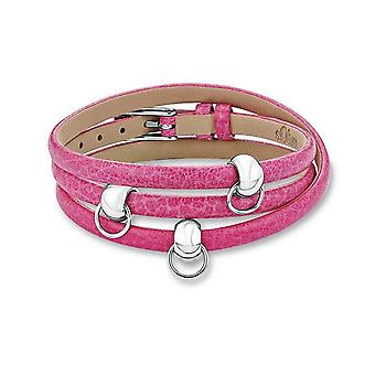 s.Oliver Jewel Ladies Charms Bracelet Stainless Steel Leather SOCHB / 40-437790