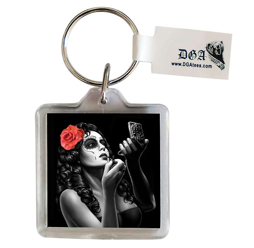 DGA Tees Bonita Keychain Keyring Accessory Sugar Skull Day Of The Dead Lady