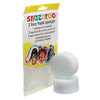 Snazaroo Pack of 2 Face Paint High Density Sponges Fancy Dress Accessory