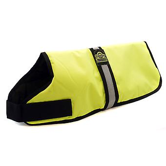 Outhwaites Waterproof Padded Hi-vis Coat Yellow 56cm (22