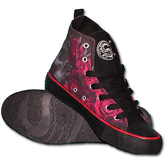 Spiral Souls Women's Blood Rose High Top Sneakers
