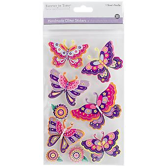 MultiCraft Glitter la main 3D autocollants-papillon splendeur SS859.-f.