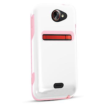 Technocel Dual Protection Shield for HTC Evo 4G LTE - Pink/White