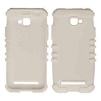 Rocker serie Silicone Skin Protector geval voor Blu-D410A / Dash 5.0 (wit)