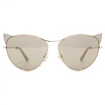 Karl Lagerfeld Kitten Cateye Sunglasses In Shiny Rose Gold