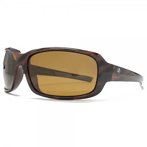 Freedom Polarised Rectangle Wrap Sunglasses In Brown