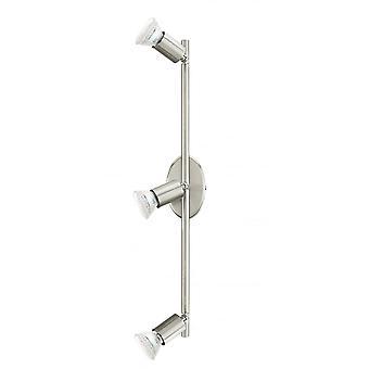 Eglo Buzz 3 helle moderne LED Strahler Decke Licht Satin Nicke