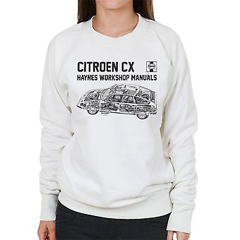 Haynes Workshop Manual 0528 Citroen CX Black Women's Sweatshirt